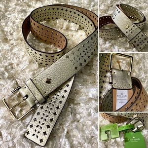 Kate Spade NWT champagne belt ♠️ Large